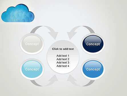 Blue Cloud PowerPoint Template Slide 6