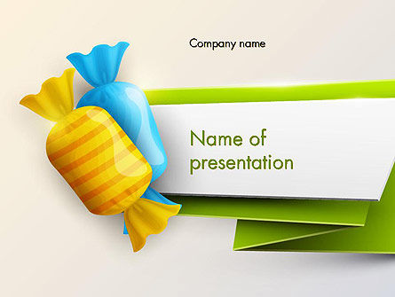 Colorful Candies PowerPoint Template, 13575, Food & Beverage — PoweredTemplate.com
