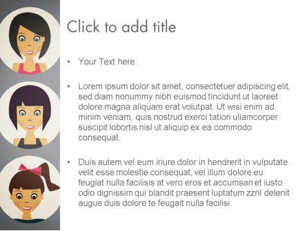 Colored People Avatars PowerPoint Template, Slide 3, 13576, People — PoweredTemplate.com