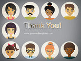 Colored People Avatars PowerPoint Template#20