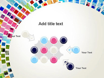Mosaic Circle Abstract PowerPoint Template Slide 10