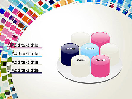 Mosaic Circle Abstract PowerPoint Template Slide 12
