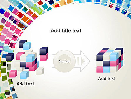 Mosaic Circle Abstract PowerPoint Template Slide 17