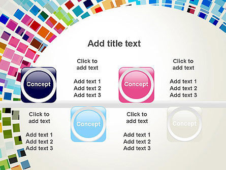 Mosaic Circle Abstract PowerPoint Template Slide 18