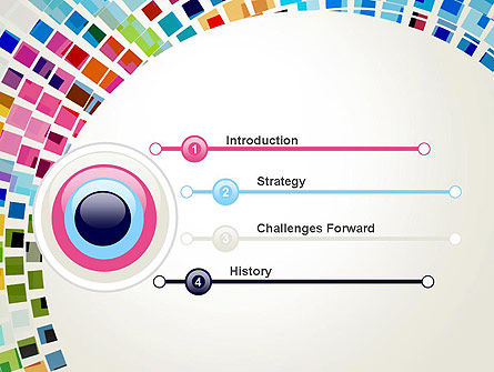 Mosaic Circle Abstract PowerPoint Template, Slide 3, 13577, Abstract/Textures — PoweredTemplate.com