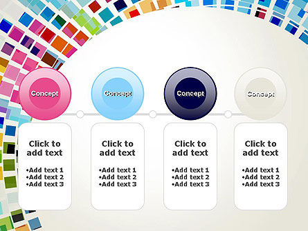 Mosaic Circle Abstract PowerPoint Template Slide 5