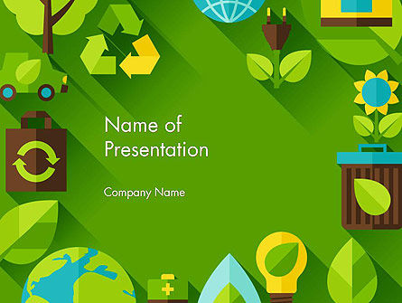 Green Sustainability PowerPoint Template, 13580, Nature & Environment — PoweredTemplate.com