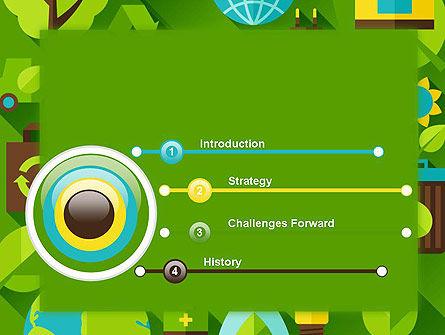 Green Sustainability PowerPoint Template, Slide 3, 13580, Nature & Environment — PoweredTemplate.com