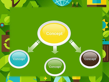 Green Sustainability PowerPoint Template, Slide 4, 13580, Nature & Environment — PoweredTemplate.com
