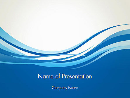 Abstract Waved PowerPoint Template, 13581, Abstract/Textures — PoweredTemplate.com