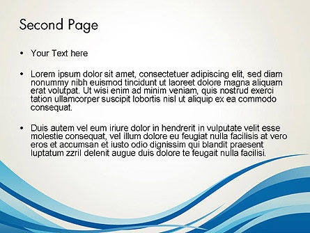 Abstract Waved PowerPoint Template Slide 2