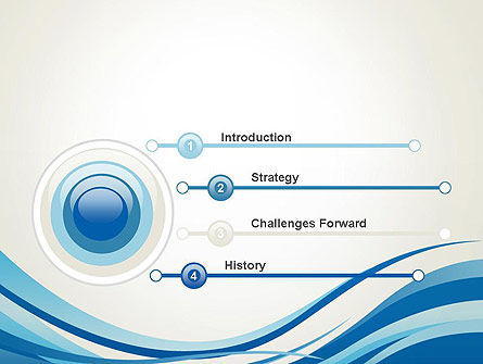 Abstract Waved PowerPoint Template Slide 3