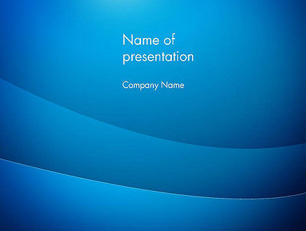 Blue Drapery Abstract PowerPoint Template