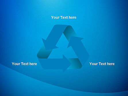 Blue Drapery Abstract PowerPoint Template Slide 10