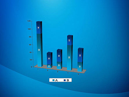 Blue Drapery Abstract PowerPoint Template Slide 17