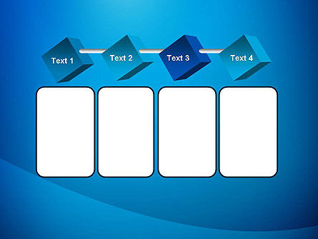 Blue Drapery Abstract PowerPoint Template Slide 18
