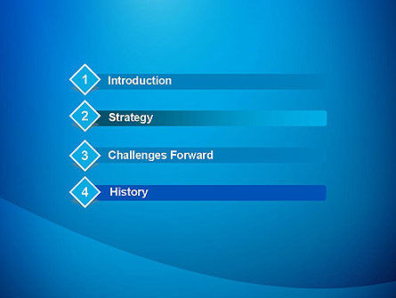 Blue Drapery Abstract PowerPoint Template Slide 3