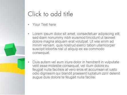 Floating Green Cubes PowerPoint Template, Slide 3, 13584, Abstract/Textures — PoweredTemplate.com