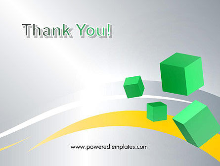 Floating Green Cubes PowerPoint Template Slide 20