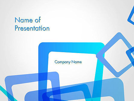 Blue Frames Abstract PowerPoint Template, 13585, Abstract/Textures — PoweredTemplate.com