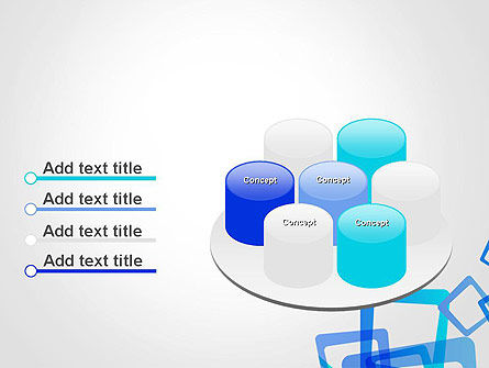 Blue Frames Abstract PowerPoint Template Slide 12