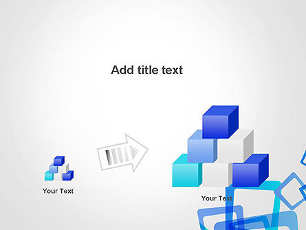 Blue Frames Abstract PowerPoint Template Slide 13