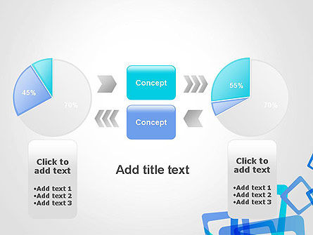 Blue Frames Abstract PowerPoint Template Slide 16