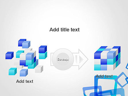 Blue Frames Abstract PowerPoint Template Slide 17