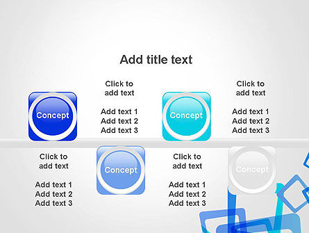 Blue Frames Abstract PowerPoint Template Slide 18