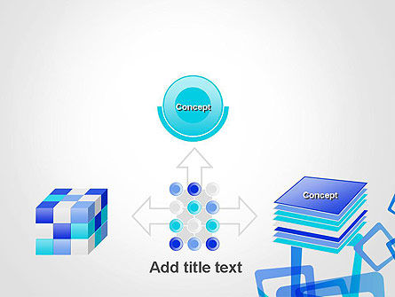 Blue Frames Abstract PowerPoint Template Slide 19