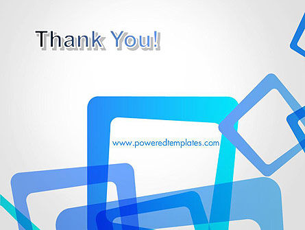 Blue Frames Abstract PowerPoint Template Slide 20
