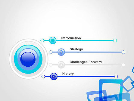 Blue Frames Abstract PowerPoint Template Slide 3