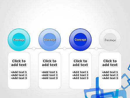Blue Frames Abstract PowerPoint Template Slide 5