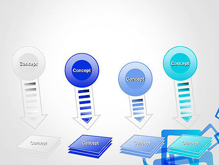 Blue Frames Abstract PowerPoint Template Slide 8
