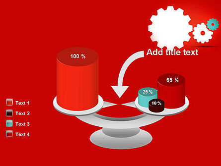 Flat Gears PowerPoint Template Slide 10