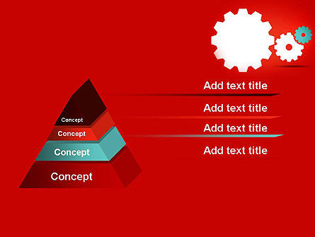 Flat Gears PowerPoint Template Slide 12