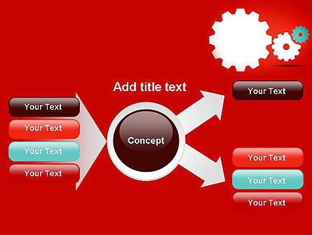 Flat Gears PowerPoint Template Slide 14