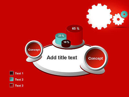 Flat Gears PowerPoint Template Slide 16