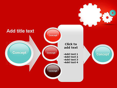 Flat Gears PowerPoint Template Slide 17