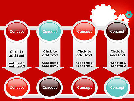 Flat Gears PowerPoint Template Slide 18