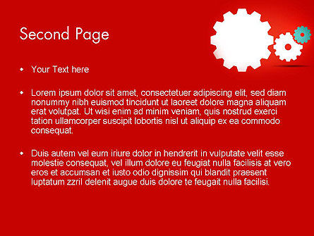 Flat Gears PowerPoint Template Slide 2