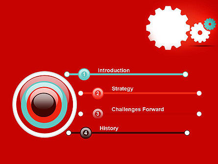 Flat Gears PowerPoint Template Slide 3
