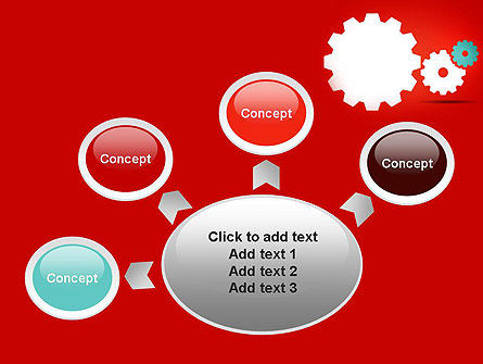 Flat Gears PowerPoint Template Slide 7