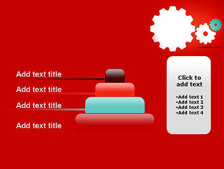 Flat Gears PowerPoint Template Slide 8