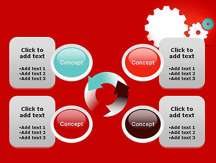 Flat Gears PowerPoint Template Slide 9