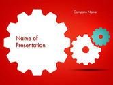 Business Concepts: Flat Gears PowerPoint Template #13586