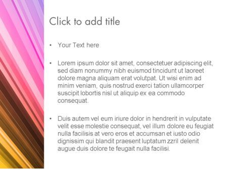 Colorful Strings PowerPoint Template, Slide 3, 13587, Abstract/Textures — PoweredTemplate.com