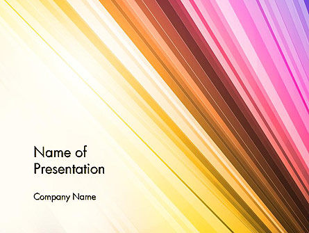Colorful Strings PowerPoint Template, 13587, Abstract/Textures — PoweredTemplate.com