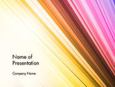 Abstract/Textures: Colorful Strings PowerPoint Template #13587