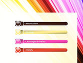 Colorful Strings PowerPoint Template#3
